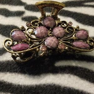 Butterfly Hairclip - Purple (NWOT)